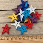 Star Assorted Colour 20mm Button Pack